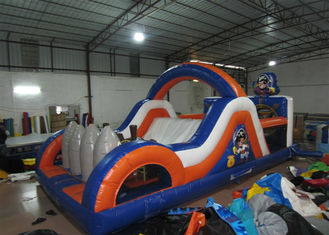 China Inflatable Pirate Obstacle Course Jump House , Games Obstacle Course Bouncer 8 X 4 X 3.5m supplier