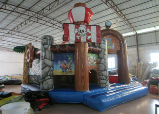 China Kids Bouncy Castle With Slide 5 X 6m , Water Park Pirate Ship Baby Jumping Castle supplier