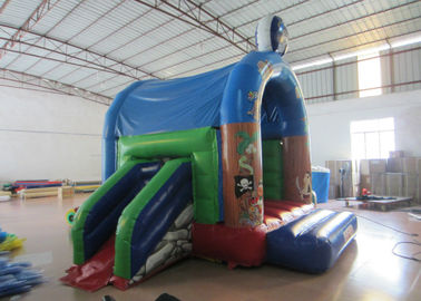 Indoor Small Inflatable Jump House 4.2 X 4m 0.55mm Pvc Tarpaulin Fire Resistance