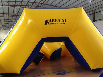 China Outdoor Games Inflatable Paintball Bunkers 0.9mm Pvc Tarpaulin 5 X 2.5 X 1.25m supplier