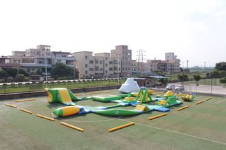 China Giant Adult Inflatable Aqua Park , Fireproof PVC Inflatable Water Park Games supplier