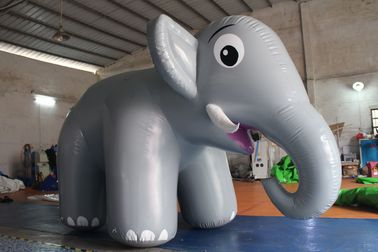 China Customized Airtight Standing Inflatable Elephant Cartoon For Commercial Activity supplier