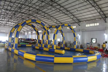 China Big Sealing Material Long Inflatable Race Track For Outdoor Karting Games Interesting inflatable sport games supplier
