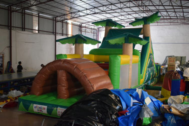 0.55mm PVC Inflatable Obstacle Courses For Kids / blow up Palm Tree