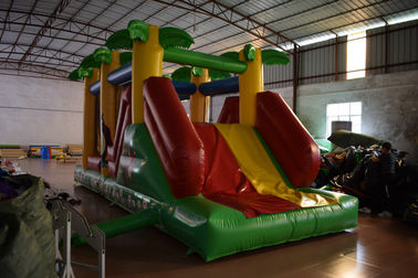 China Classic Inflatable Obstacle Courses Forest Animals Palm Trees Lead - Freem Small Size inflatable obstacle course supplier