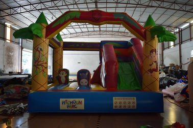 China Jungle inflatable forest animals jump house PVC fabric middle size inflatable animals bouncy on sale supplier