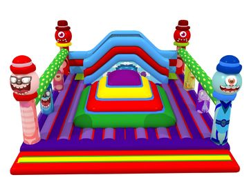 China Square Shape Inflatable Sports Games Monsters Themed Soft Air Mountain With Big Slide Inside supplier