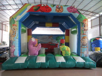China Fire Resistance PVC Kids Inflatable Bounce House / Commercial Dinosaur Bouncy Castle supplier