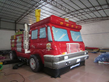 China Commercial Inflatable Jump House Fire Fighting Truck Bouncy Bus For Amusement supplier