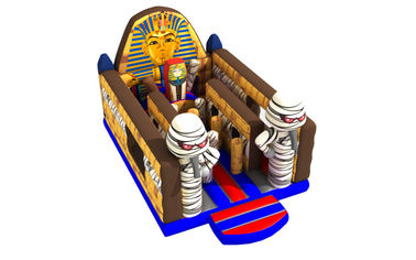 China Egyptian Mummy Pharaohs Themed Inflatable Jump House Without Roof 4.5x7x4m supplier