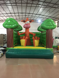 China Simple Themed Pink Leopard Kids Inflatable Bounce House Without Roof PVC Material supplier