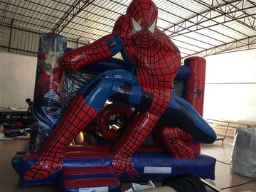 China Mini Bouncy Inflatable Spiderman For Children Under 10 , 3 Years Warranty supplier