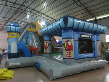 China Waterproof Airplane Themed Inflatable Fun City For Children With CE EN14960 UL supplier