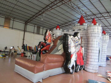 China 0.55mm PVC Tarpaulin Knight Themed Inflatable Castle Bouncer 12.9 X 8.3 X 3.2m supplier