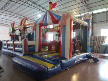 China Circus Clown Themed Inflatable Fun City For Multiplay 2 - 3 Years New Inflatable Clown Obstacle Course supplier