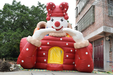 China Commericlal Giant Inflatable High Dry Slide Circus Clown Eco - Friendly supplier