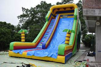 China Simple Large Inflatable Dry Slide / Bright Colour Palm Tree Slides supplier