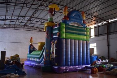 Commercial Magic Circle Inflatable Dry Slide / Monkey Bounce House