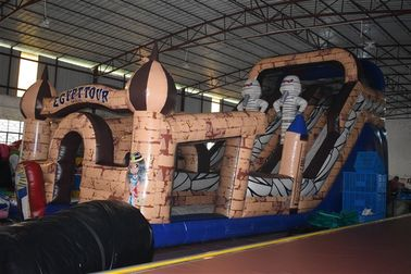 China Egyptian Pharaoh Themed Commercial Inflatable Water Slides Long And High For 3 - 15 Years Old Children supplier