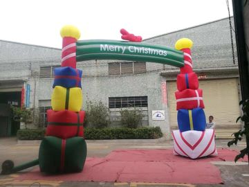 China Colorfull PVC Coated Nylon Inflatable Christmas Decorations / Blow Up Arch supplier