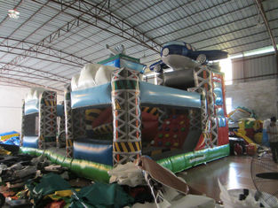 Hot sale inflatable airplane fun city cheap price inflatable airplane amusement park inflatable airplane jumping house