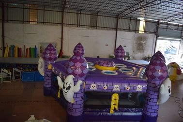 Fun Inflatable Sports Games / Interesting Halloween Round Inflatable Whac - A - Mole Games