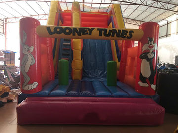 PVC inflatable rabbit slide simple inflatable dry slide cute inflatable looney tunes cartoon simply dry slide for sale