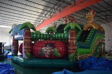Forest inflatable animals fun city giraffe inflatable fun amusement park inflatable lion jumping house with slide