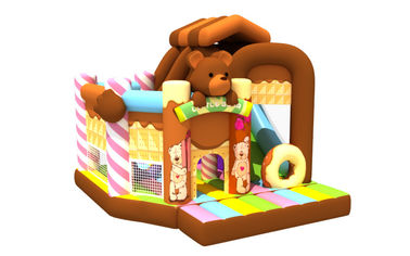 China 5-10 Children Inflatable Jump House / Little Bear Inflatable Combo supplier