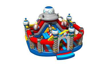 Spaceship themed inflatable fun city round shape inflatable fun amusement park children inflatable fun city