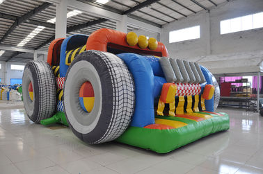 Water Resistant Car Shaped Inflatable Jump House For Children Under 15 Years
