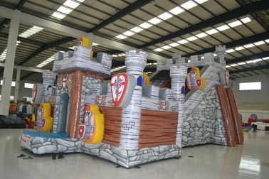 China Digital Printing Inflatable Jumping Castle / Blow Up Guard Themed Fun City supplier