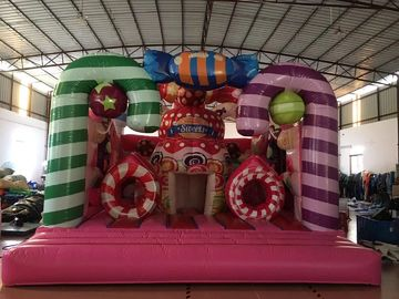 China Colourful Inflatable Candyland Jump House For Children 'S Birthday supplier
