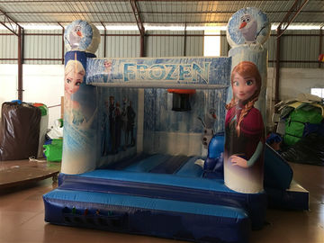 China Inflatable Bounce House Combo / Frozen Themed Jump House With Slide For Kids PVC tarpaulin inflatable combo supplier