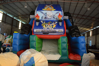 China Durable Monster Truck Inflatable Slide / Digital Printing SUV Expedition Car Dry Slide supplier