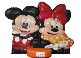 China Disney big inflatable jump bounce hot sale minnie digital painting inflatable bouncer house Mickey mouse jumping house supplier