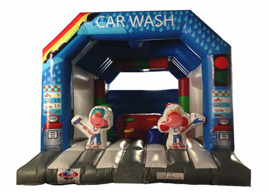 China Wide Inflatable Car Wash Themed Jump House Inflatable Children Bounce With Slide supplier
