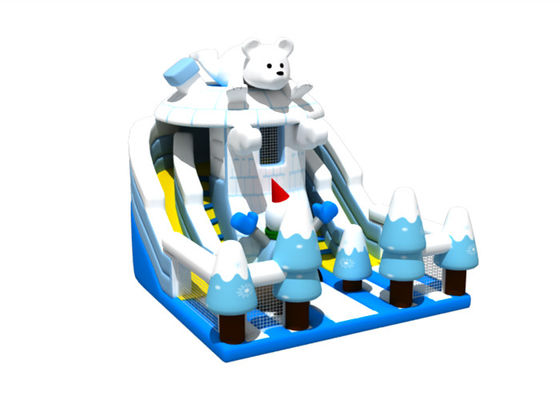 Ice And Snow Animals Themed 8x8x5.7m commercial inflatable slide