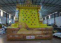 Egypt Tower Tour Inflatable Rock Climbing Wall Waterproof Fireproof PVC 5 X 4 X 6m
