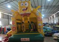 China Cute spongebob inflatable combo /  inflatable bouncer house /  2 in 1 inflatable combo factory