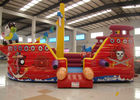 Double Stitching Pirate Bounce House , Pirate Ship Inflatable Bouncer 10 X 5 X 4m