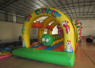 Kids inflatable bounce house with caterpillar inside hot arch modeling inflatable jump house