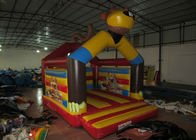 Inflatable monkey themed jumping house Yellow monkey inflatable bouncer jumping castle inflatable monkey for sale