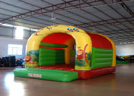 Forest animals theme inflatable bouncers /  inflatable bouncer with roof Inflatable simple bouncy house