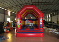 Clown circus themed inflatable bouncer elephant inflatable bouncer jumping square inflatable bouncer