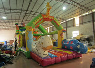 China Giraffe animals inflatable obstacle courses cute deer theme obstacle courses inflatable athletics sport games courses factory