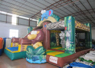 Forest themed inflatable safari park combo China inflatable safari combo animals combo