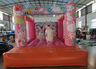 China Custom Made Inflatable Small bouncer Pink inflatable rabbit Jump house on sale factory