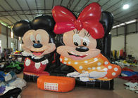 Disney big inflatable jump bounce hot sale minnie digital painting inflatable bouncer house on sale for children