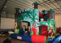 Classic inflatable palm trees jump house PVC inflatable jumping combo for sale inflatable bounccer for renting